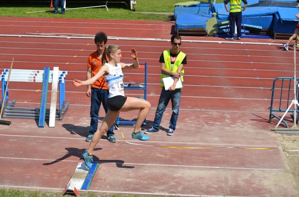 Jornada XOGADE de atletismo en pista en Pontevedra