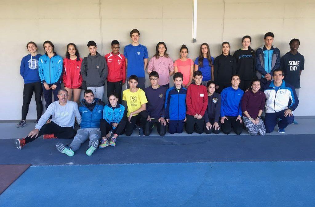 Atletas da SGP na concentración de saltos  da zona sur convocados pola FGA