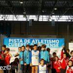 El equipo Sub 12 masculino   de la Sociedad Gimnástica vencedor  en la Liga ABANCA