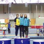 Dos oros, cuatro platas y seis  bronces en el Campeonato Gallego Absoluto de Pista Cubierta