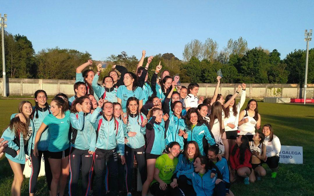 Campionato Galego  Clubes sub 20 : Ouro en mulleres e bronce en homes