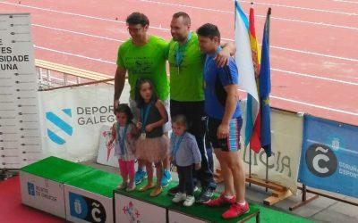 Catorce medallas no Campionato de Galicia Absoluto