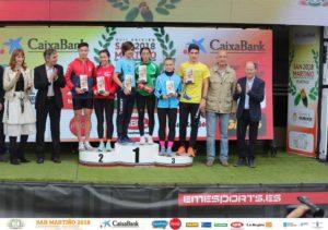 Blanca Armenteros en la carrera del San Martiño de Ourense