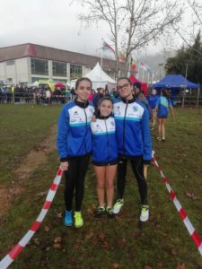 Equipo sub16 femenino Campeonato Gallego de Cross