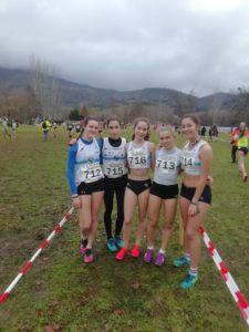Equipo sub18 femenino Campeonato Gallego de Cross