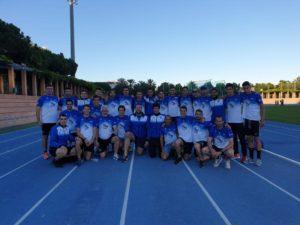 Equipo masculino de la Segunda Jornada de Liga de atletismo