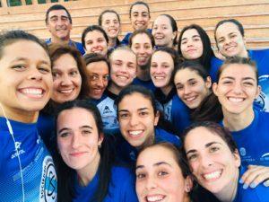 Componentes del equipo femenino que participó en la Tercera Jornada de la Liga