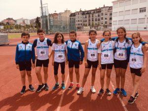 Equipo sub12 en el Campeonato Provincial de Atletismo