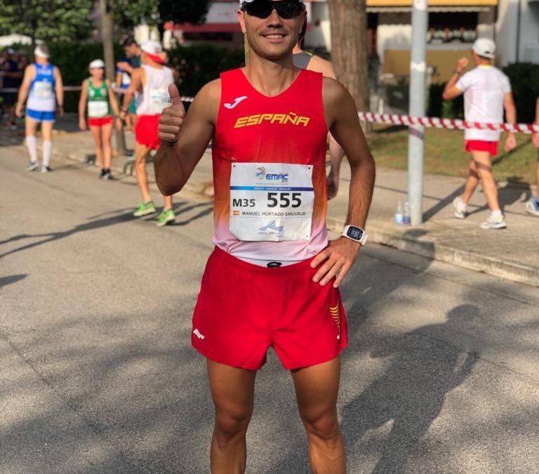 Manuel 'Huracán' Hurtado segundo en la Media Maratón del Campeonato de Europa Máster