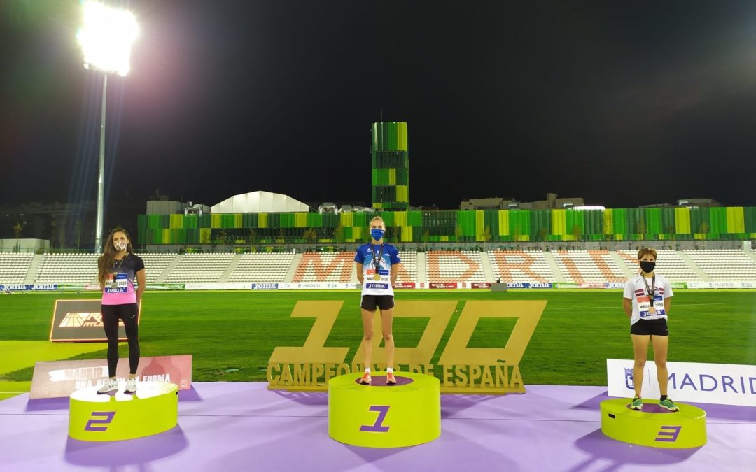 Oro para Antía Chamosa en un Campeonato de España Absoluto con buenas actuaciones de los atletas de la Sociedad Gimnástica de Pontevedra