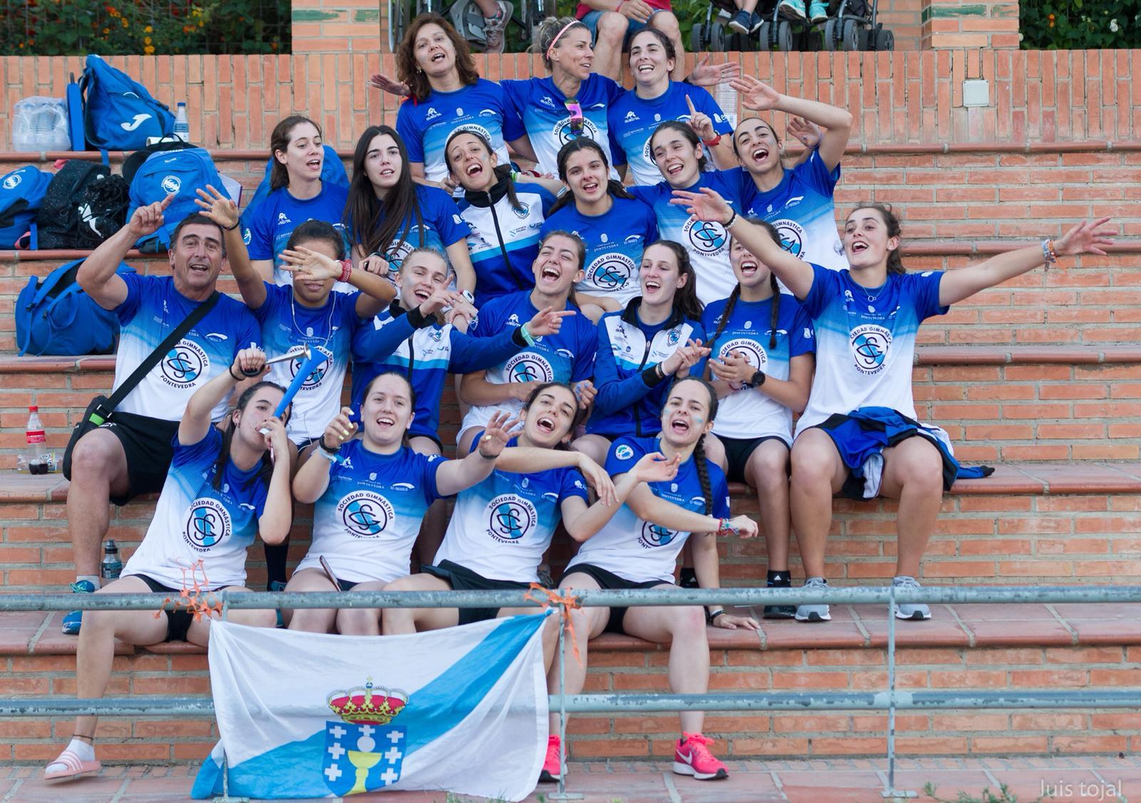 Equipo femenino en la última jornada de la Liga Iberdrola de la temporada pasada | Foto: Luis Tojal