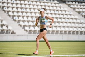 Antía Chamosa, 10000m marcha en el Estadio de Vallehermoso. | Foto: sportsmedia