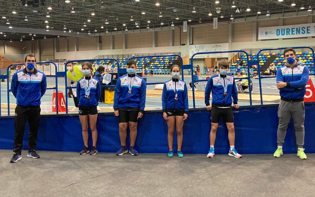 Los atletas de categorías menores disfrutaron en Ourense