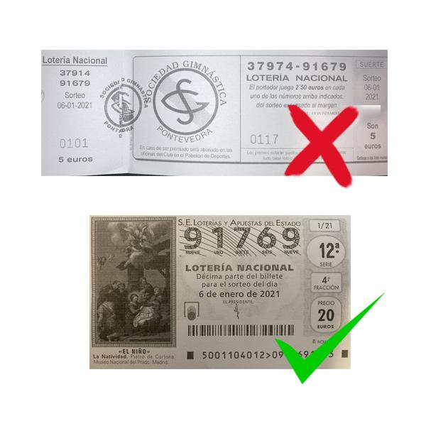Lotería de Reyes Sociedad Gimnástica de Ponteevedra