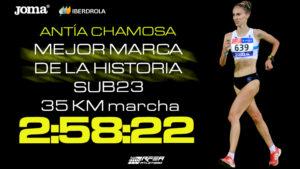 Antía Chamosa mejor marca de la historia sub23