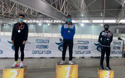 Dos oros y una plata para los atletas de la Sociedad Gimnástica de Pontevedra en el Campeonato Absoluto de Castilla y León