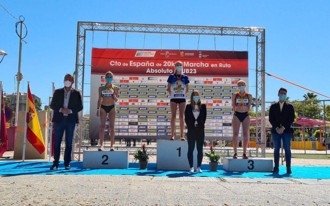 Antía Chamosa, campeona de España en los 20km con récord gallego sub23