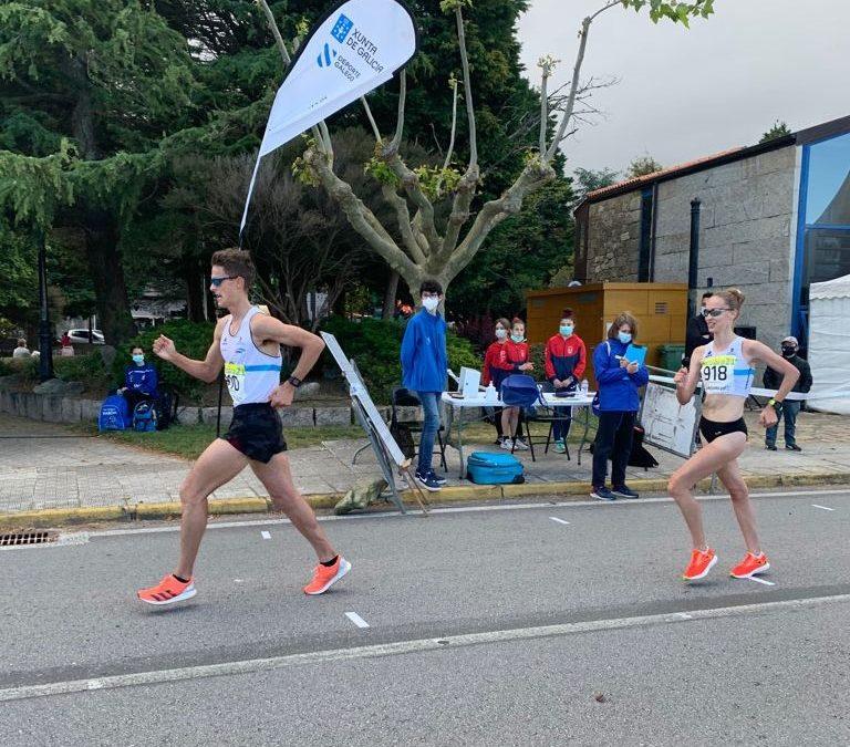 Doblete gimnástico en un Campeonato Gallego de Marcha con un total de cuatro medallas
