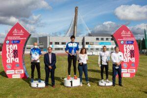 Podium de los 10km masculino del Gran Fondo CaixaBank 2021