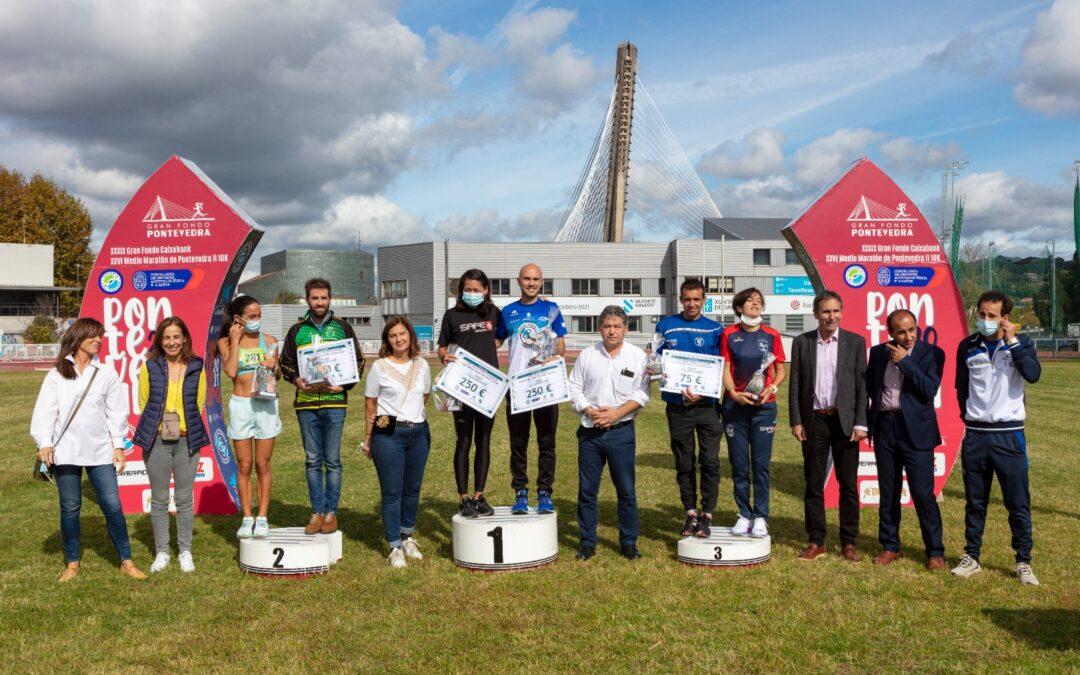 Triple victoria de la Sociedad Gimnástica de Pontevedra en el Gran Fondo CaixaBank