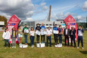 Podium medio maratón del Gran Fondo CaixaBank 2021