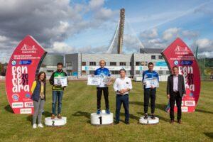 Podium del medio maratón masculino del Gran Fondo CaixaBank 2021
